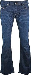 Diesel Mens Boot-Cut Stretch Jeans Zathan R845B Dark Blue