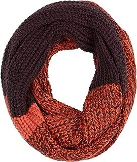 Women's Orange Purple Knit Snood Scarf