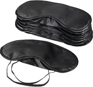 Mudder Blindfold Eye Mask Shade Cover for Sleeping with Nose Pad, 10 Pack