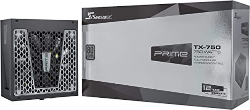 Fuente de alimentación para PC Seasonic PRIME TX-750 totalmente modular 80PLUS Titanium 750 Watt