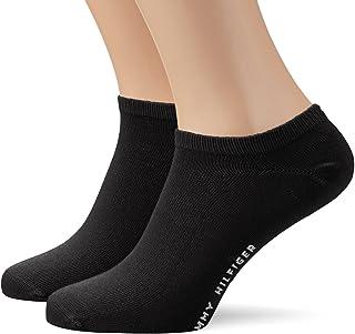 Tommy Hilfiger, Calcetines cortos para hombre, 6 pares de calcetines negros o blancos