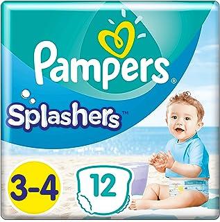 comprar comparacion Pampers - Pantalones de baño Splasher, Tamaño del paquete 3-4, 96 pañales (8x 12 pañales)