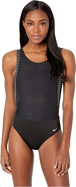 Sport Mesh Convertible Layered One-Piece