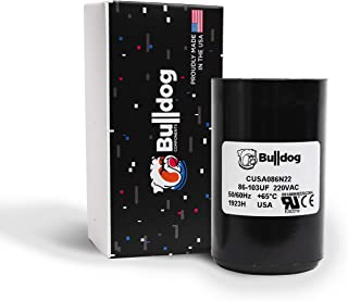 Bulldog USA 86-103 uF (MFD) 220VAC Well Pump Motor Capacitor 275464118 for Franklin 2801074915 2824085015 2803580115