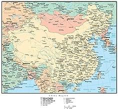 Wallmonkeys Map of China Wall Decal, 30