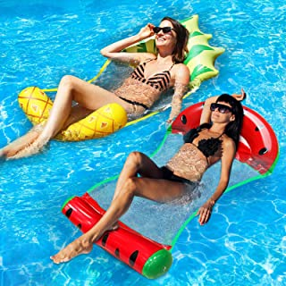Camlinbo Inflatable Swimming Pool Float 4-in-1 Multi- Purpose Inflatable Water Hammock Lounge Chair Drifter Party Summer O...