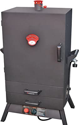 "Landmann USA 3895GWLA Smoky Mountain Vertical Gas Smoker, 38-Inch, 26"" Wide Chamber, Black"