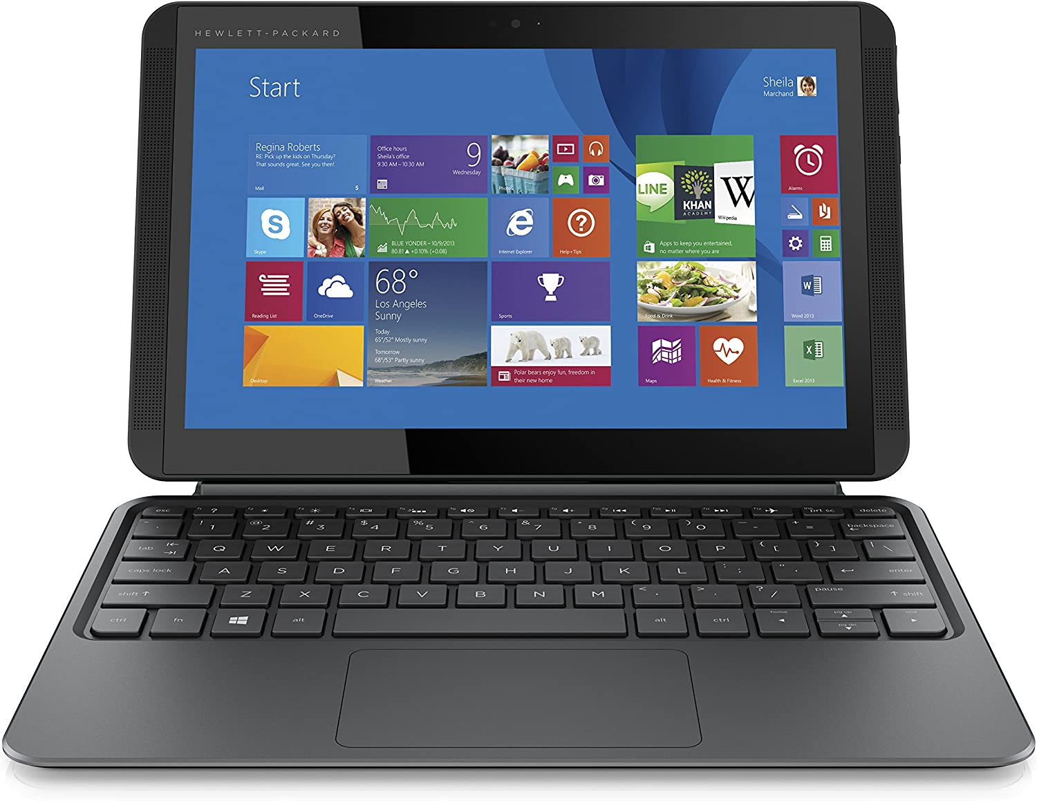 HP Pavilion X2 10.1-inch Detachable 2 in 1 Laptop for word processing