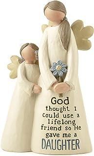 Figura decorativa de ángeles madre e hija, diseño con