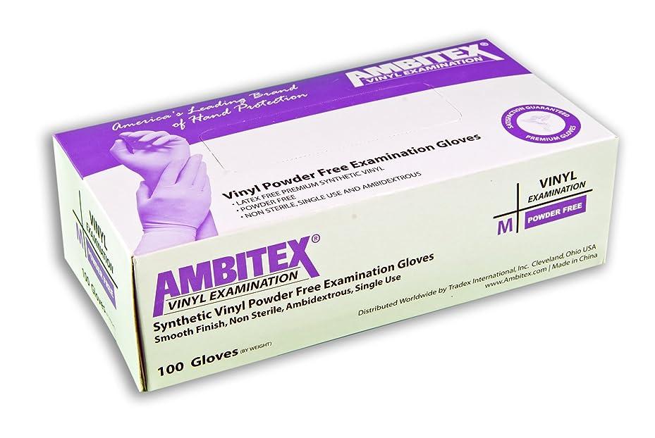 シンプルさ南アメリカクスクスAmbitex Disposable Vinyl Exam Gloves Powder Free (10 Boxes of 100 Gloves Each, Total of 1000 Gloves) - Size Medium by Milliken