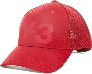 Y-3 Mens Trucker Mesh Cap in Red