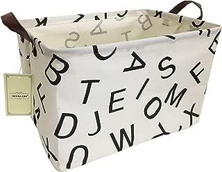 HIYAGON Rectangular Storage Box Basket for Baby, Kids or Pets - Fabric Collapsible Storage Bin for Organizing Toys,Nursery Basket,Clothing,Books, Gift Baskets(Alphabet)