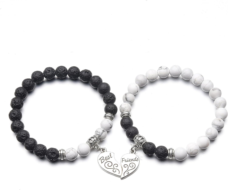 ZHEPIN Best Friend Bracelet,Relationship Bracelets-Love Formed b