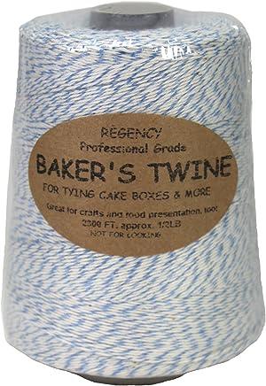 Regency Wraps Regency Baker's Twine .5 lb Cone, Blue/White
