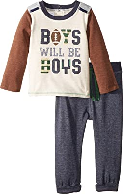 Football Raglan Long Sleeve Two-Piece Set (Infant)
