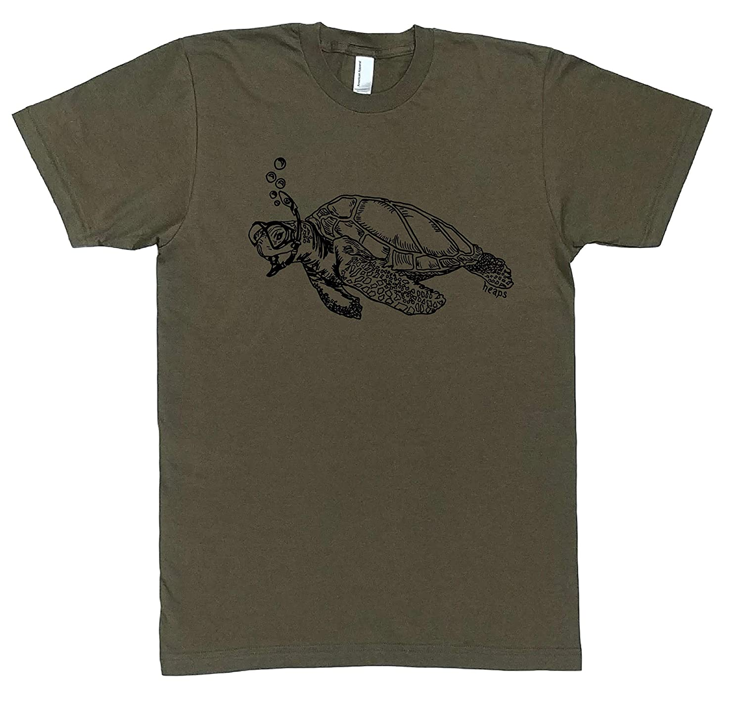 Max Genuine Free Shipping 62% OFF Mens T Shirt Snorkeling Turtle Printed S XL Graphic L M