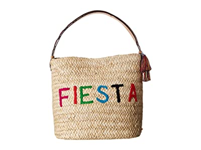 Frances Valentine Fiesta/Siesta Cornhusk Bag (Natural/Multi) Handbags