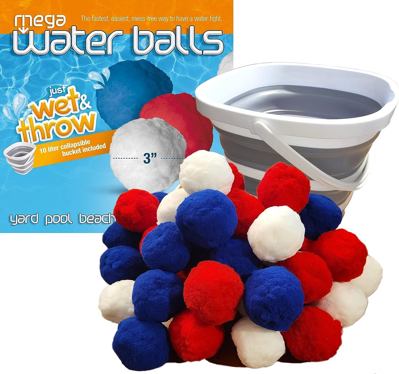 Mega Water Balls Dedication Instant Fight Bal Max 74% OFF 42 Kit Reusable -