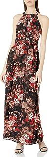 فستان ماكسي بياقة بثنيات للنساء من ناين ويست