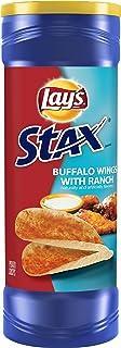Lay's Stax Buffalo Wings & Ranch Flavored Potato Crisps, 5.5 Ounce