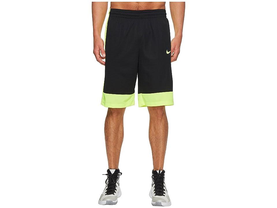 Nike Fastbreak Basketball Short (Black/Volt/Volt) Men