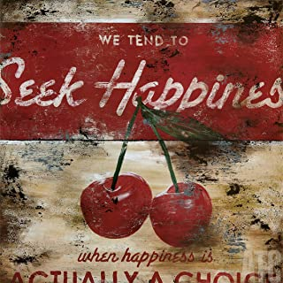 ArtToCanvas 24W x 24H inches : Seek Happiness by Rodney White - Canvas w/Brushstrokes