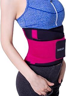 DARCHEN Back Brace Back Pain Relief Lumbar Support Belt Waist Trainer for Women and Men Body Shaper Waist Slimmer Trimmer Cincher with Dual Adjustable Straps