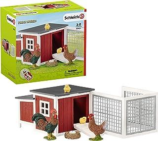 Schleich Farm World 8-piece Chicken Toy Coop & Farm Animal Toys for Kids Ages 3-8
