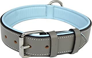 Soft Touch Collars – Luxury Real Leather Padded Dog Collar – The Capri..
