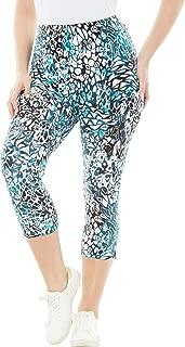 Women's Plus Size Printed Capri Leggings