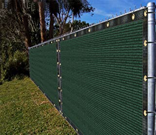 Ifenceview 4'x5' to 4'x50' Green Shade Cloth Fabric Fence Privacy Screen Panels Mesh Net for Construction Site Yard Driveway Garden Pergolas Gazebos Railing Canopy Awning 180 GSM UV Protection (4'x8')