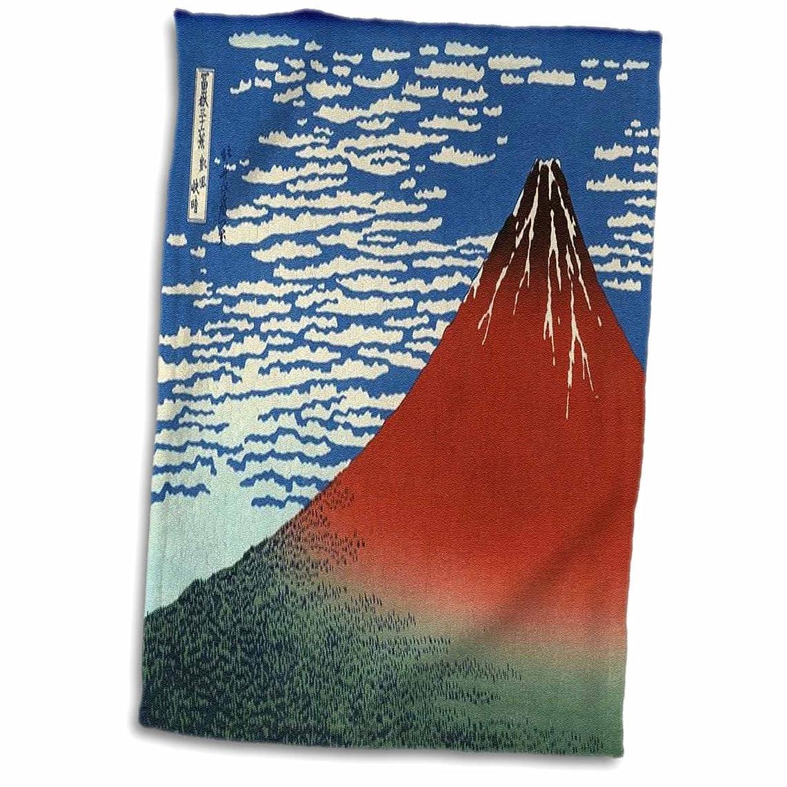 談話警告爵3dローズFlorene?–?Hokusai日本アート?–?有名な日本ウッドカットMT FUJI画の画像?–?タオル 15