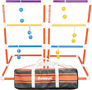 Harvil Premium Ladder Toss Game Set. Includes Golf Bolas, 2 Targets, and Carrying Case