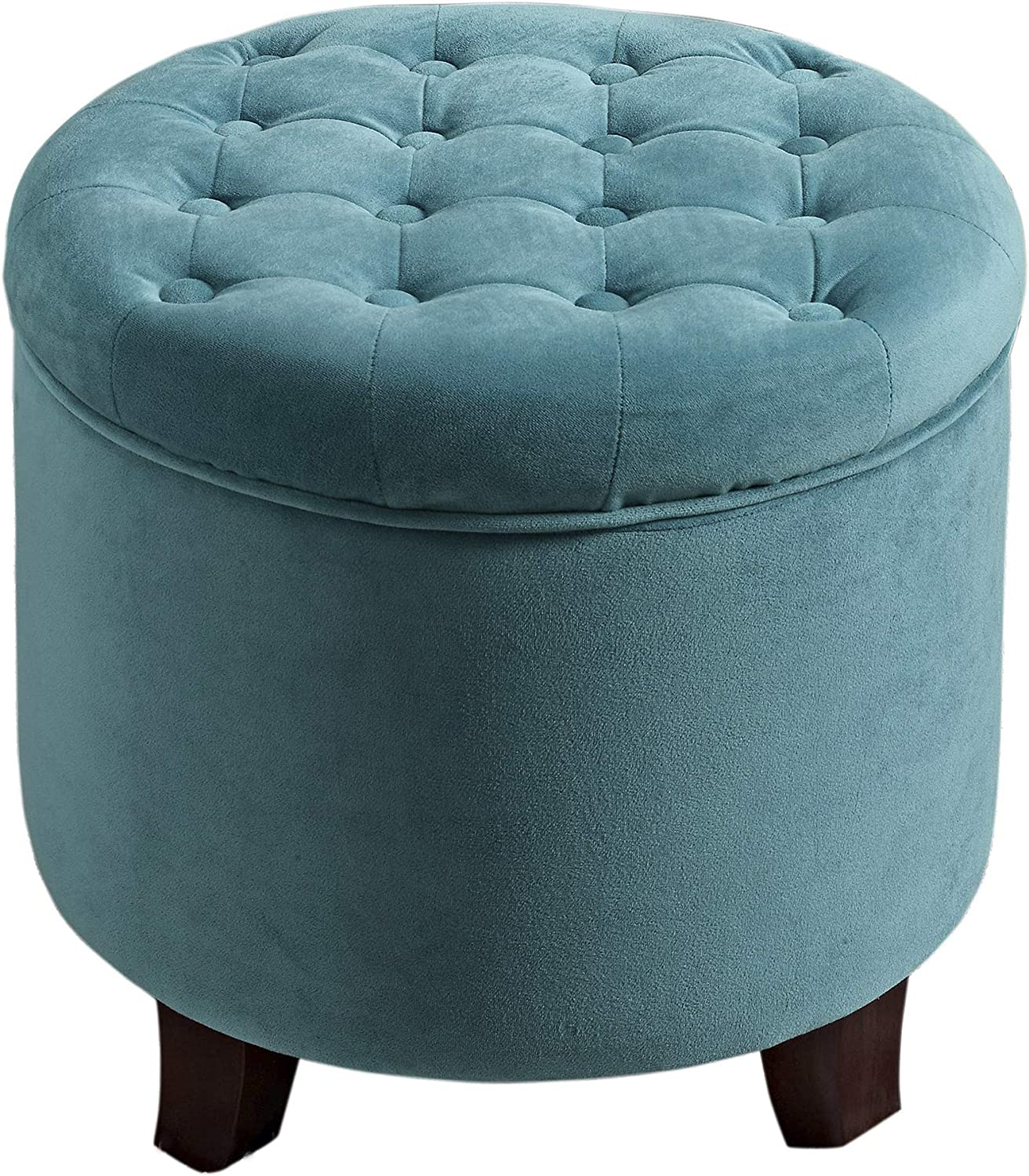HomePop by Mesa Mall Kinfine Fabric Upholstered Round - Free shipping / New Storage Ottoman Ve