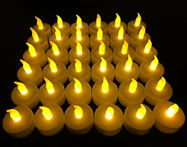 Flameless LED Tea Light Candles, 36 PK Vivii Battery-Powered Unscented LED Tealight Candles, Fake Candles, Tealights (36 Pack