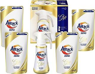 【洗剤ギフト】 アタックZERO ワンハンドプッシュ400g*1本 つめかえ360g*4袋 (抗菌+プラス 24時間部屋干し臭を防ぐ)