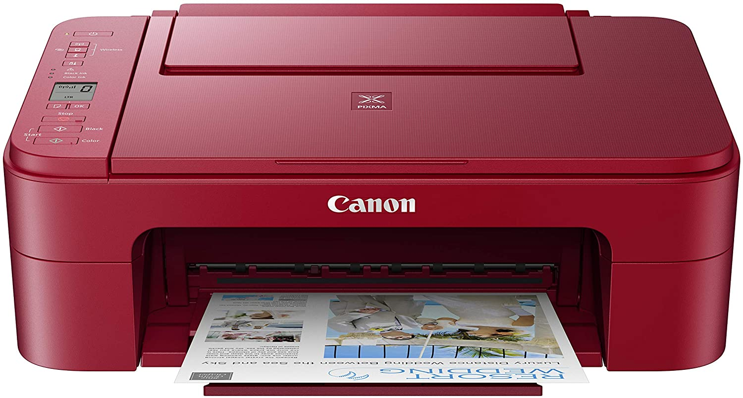 Canon Pixma TS3320 Red, Works with Alexa