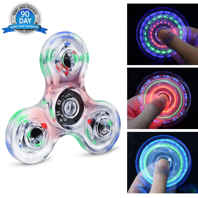 Quimat Fidget Spinner Hand Spinner LED Juguetes de Dedos Que se Enciende EDC 216 Modos Flashing para Niños Adultos Ayuda contra la Ansiedad Enfocándose en Reducir el Aburrimiento y estrés: Amazon.es: Juguetes