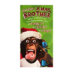 Christmas Card for Brother - Photographic Humour Design