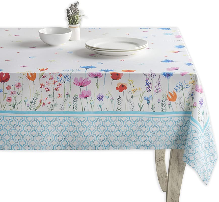 Maison D Hermine Flower In The Field 100 Cotton Tablecloth 60 Inch By 120 Inch