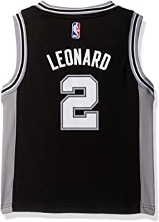 Outerstuff NBA San Antonio Spurs-Leonard Kids Replica Player Jersey-Road, Large(7), Black