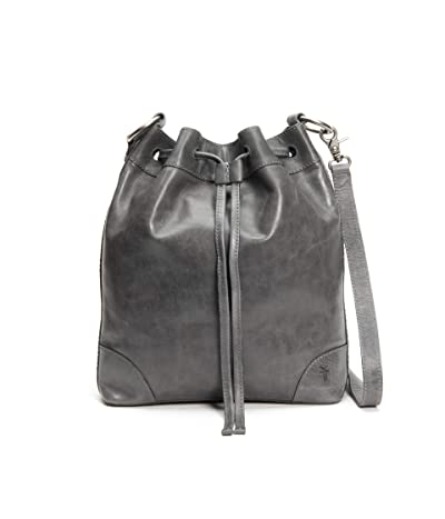 Frye Melissa Drawstring Hobo (Carbon) Handbags