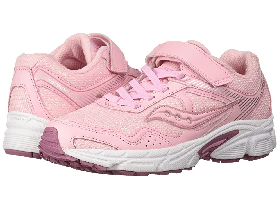 Saucony Kids Cohesion 10 A/C (Little Kid) (Blush) Girls Shoes