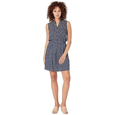 U.S. POLO ASSN. Geo Floral Dress (Evening Blue) Women