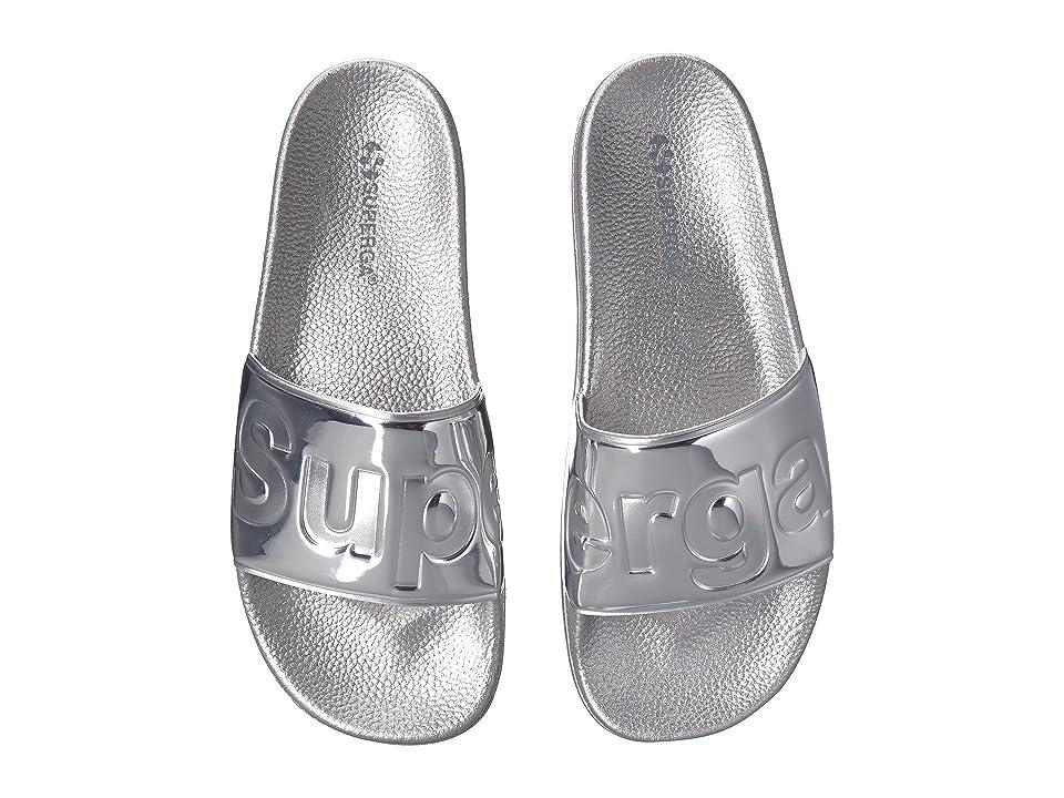 Superga 1908 PUMETU Slide Sandal (Silver) Women