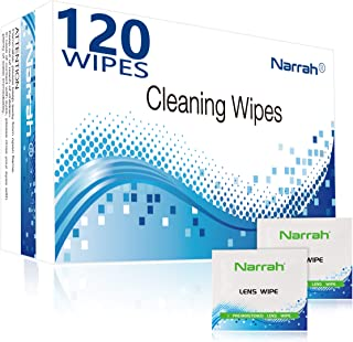 Lens Cleaning Wipes 120 Pre-moistened Glasses Cleaner Individually Packaged Eye Glasses Cleaning Wipes Suitable for Glasse...