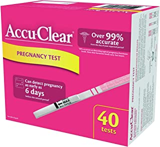 Accu-Clear Pregnancy Test Strips Over 99 Accurate1 HCG Tests, 40 Count