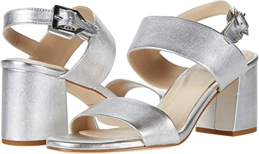 Silver Metallic Leather