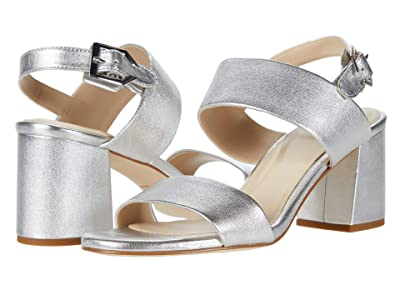 Cole Haan 65 mm G.OS Avani City Sandal (Silver Metallic Leather) Women