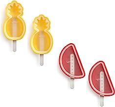 Lekue Tropical Fruit Ice Cream Pop Molds (4 Units), Multi